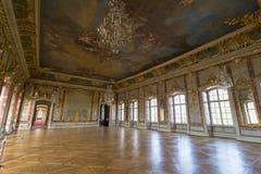 Interior del palacio de Rundale El oro Pasillo Fotografía de archivo libre de regalías