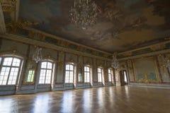 Interior del palacio de Rundale El oro Pasillo Fotografía de archivo