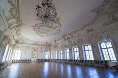 Interior del palacio de Rundale El Pasillo blanco Imágenes de archivo libres de regalías