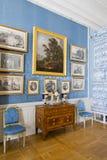 Interior del palacio de Rundale El salón italiano Foto de archivo