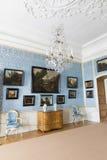 Interior del palacio de Rundale En el salón holandés Foto de archivo