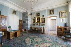 Interior del palacio de Rundale En el salón holandés Fotos de archivo libres de regalías