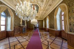 Interior del palacio de Waldstein imagen de archivo libre de regalías
