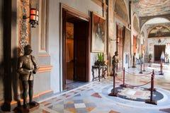 Interior del palacio del caballero Foto de archivo