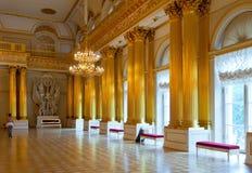 Interior del palacio del invierno (ermita del estado) Fotografía de archivo libre de regalías