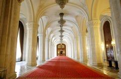 Interior del palacio del parlamento Imagenes de archivo