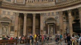 Interior del panteón en Roma almacen de video