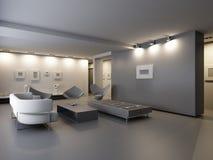 Interior del pasillo de exposición