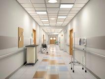 Interior del pasillo del hospital Fotos de archivo libres de regalías