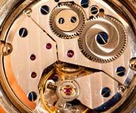 Interior del reloj Fotografía de archivo libre de regalías