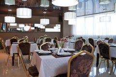 Interior del restaurante Imágenes de archivo libres de regalías
