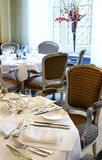 Interior del restaurante Foto de archivo libre de regalías