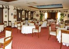 Interior del restaurante. Foto de archivo libre de regalías