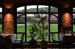 Interior del restaurante Fotos de archivo libres de regalías