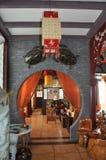 Interior del restaurante chino del té Imagenes de archivo