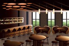 Interior del restaurante con mirada industrial Fotografía de archivo libre de regalías
