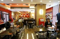 Interior del restaurante de los alimentos de preparación rápida Fotos de archivo libres de regalías