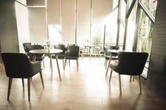 Interior del restaurante del café Imágenes de archivo libres de regalías