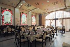 Interior del restaurante del hotel Fotografía de archivo