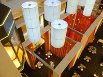 Interior del restaurante del hotel de arriba Foto de archivo libre de regalías