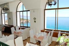 Interior del restaurante en el hotel de lujo Fotos de archivo