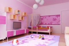 Interior del roo de los niños ilustración del vector