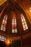 Interior del Saint Pierre de la catedral en Ginebra fotos de archivo