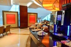 Interior del salón de la clase de negocios de los emiratos Fotos de archivo libres de regalías