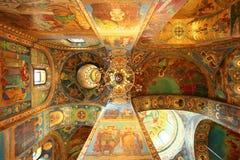 Interior del salvador de la iglesia en sangre derramada Foto de archivo libre de regalías