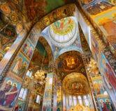 Interior del salvador de la iglesia en sangre derramada Imagen de archivo libre de regalías