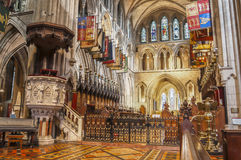 Interior del santo Patrick Cathedral Fotos de archivo libres de regalías