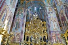 Interior del santo-Sergius Lavra de la trinidad santa imagen de archivo
