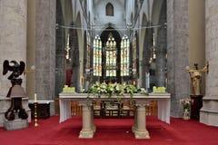 Interior del santo Walburga de la iglesia Foto de archivo