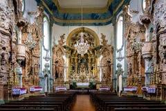 Interior del sao Francisco de Assis Church - sao Joao Del Rei, MI Fotografía de archivo