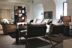 Interior del sentar-cuarto fotografía de archivo libre de regalías