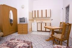 interior del sitio Cama-que se sienta Foto de archivo libre de regalías