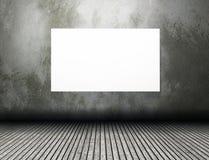 interior del sitio 3D con la lona en blanco Imagenes de archivo
