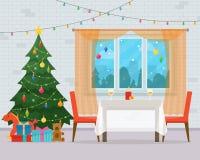 Interior del sitio de la Navidad Foto de archivo