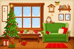 Interior del sitio de la Navidad Ilustración del vector