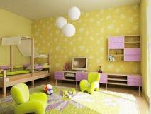 Interior del sitio de niños stock de ilustración