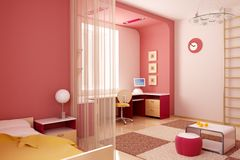 Interior del sitio de niños ilustración del vector