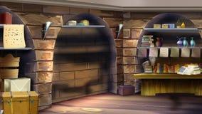 Interior del sitio del castillo Imagen 02 ilustración del vector