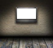 Interior del sitio del mosaico con LCD TV ilustración del vector