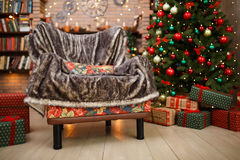 Interior del sitio en la Navidad Imagenes de archivo
