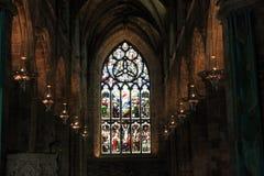 Interior del St el Gilede la catedral fotos de archivo