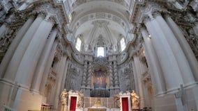 Interior del St famoso Michaels Church en Munich, Alemania almacen de video