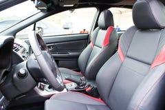 Interior 2015 del STI 2014 de Subaru WRX Fotografía de archivo libre de regalías