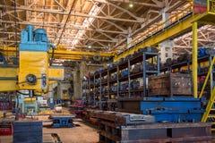 Interior del taller de la planta industrial Imágenes de archivo libres de regalías