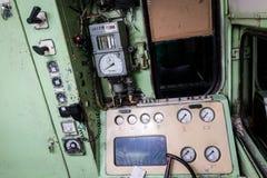 Interior del taxi de un operador del tren Fotos de archivo libres de regalías