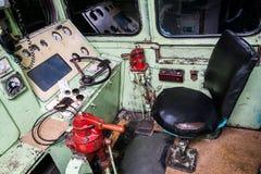 Interior del taxi de un operador del tren Fotografía de archivo
